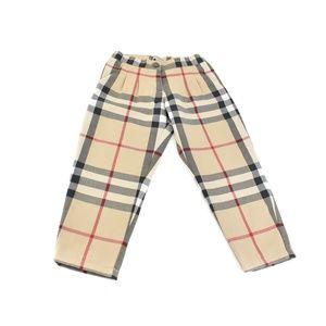 "BURBERRY Beige, ""Nova Check"" Wool, Lined Pants"